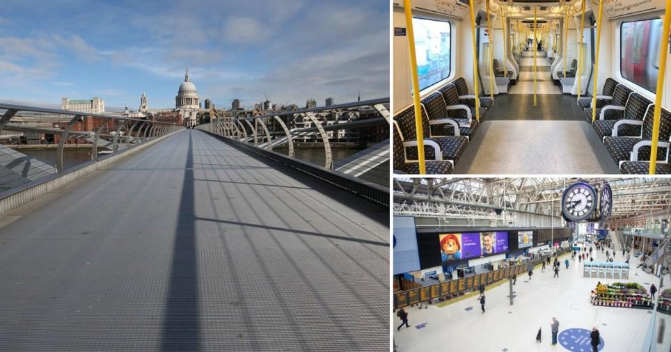Coronavirus exodus leaves London streets and Tube empty
