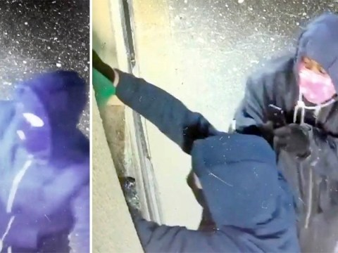 CCTV shows arsonists pour petrol into a strip club and set it alight