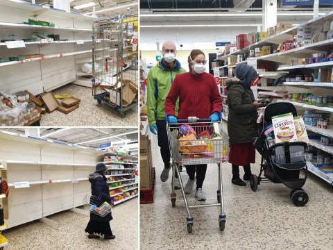 Shelves stripped bare again as supermarkets begin to ration items