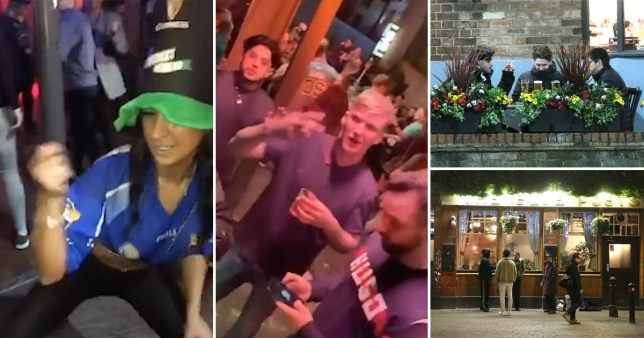The UK was determined to continue partying despite warnings (Picture: SWNS)