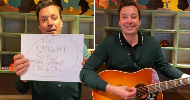 Jimmy Fallon hosts show from home