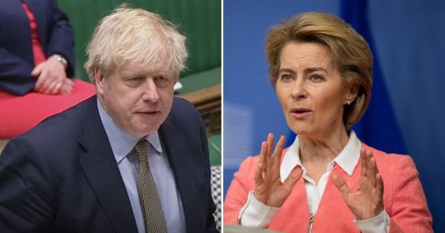 Boris Johnson and EU Commission president Ursula von der Leyen (Picture: PA/Getty)