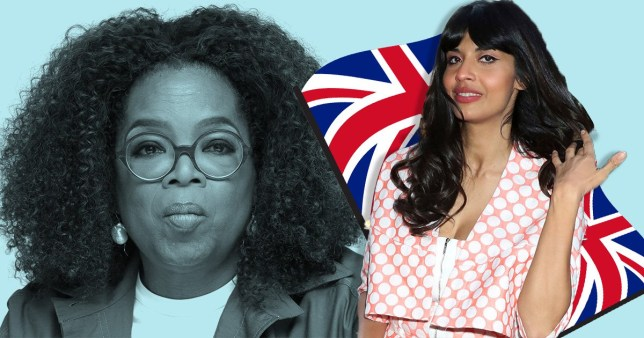 Jameela Jamil and Oprah Winfrey