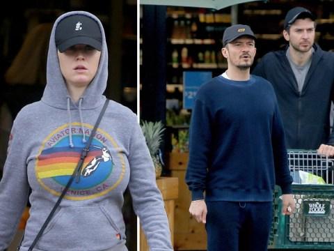 Katy Perry and Orlando Bloom stock up on supplies amid coronavirus pandemic