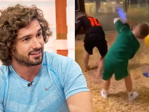 Coleen Rooney's sons try to keep up with Joe Wicks as they join 800k tuning in to first YouTube Live workout