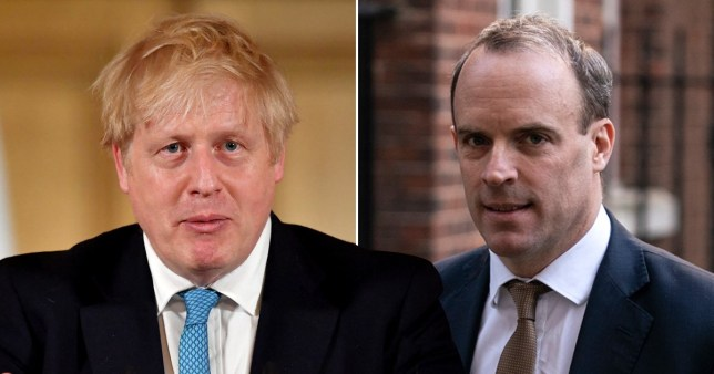 Raab would take over from Boris