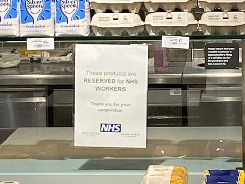 Waitrose opens section just for NHS workers in all its stores
