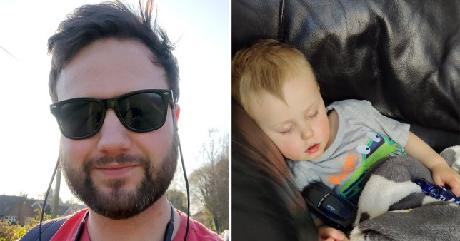 Joe is only leaving the house for exercise and supplies, and is working at home alongside looking after his son Ewan