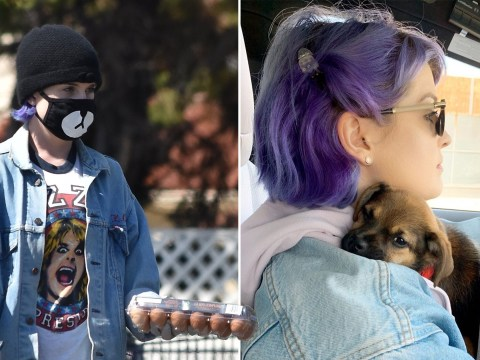 Kelly Osbourne pays tribute to dad Ozzy with rocker t-shirt as she fosters puppy during coronavirus crisis