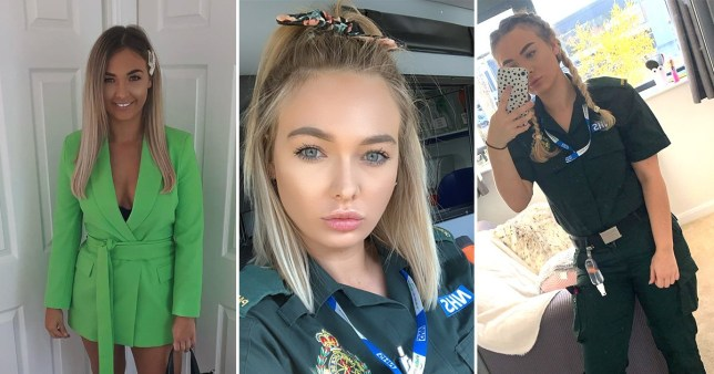 selfie of attractive female paramedic