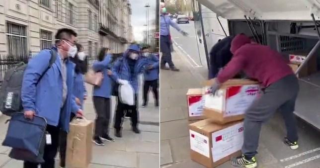 Medical team arrives from China to help UK response to coronavirus