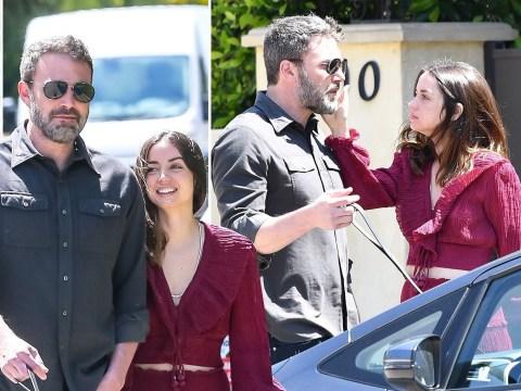 Ben Affleck and girlfriend Ana de Armas escape quarantine for a loved up dog walk