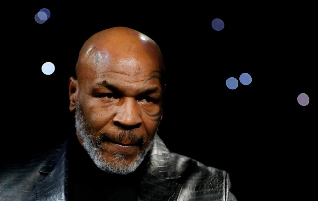 Mike Tyson is pictured at ringside before Tyson Fury vs Deontay Wilder II