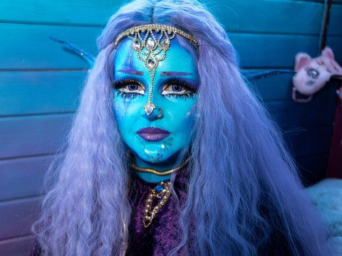 Girl inspired by aliens wants to be permanently blue – but thinks she's allergic to tattoos