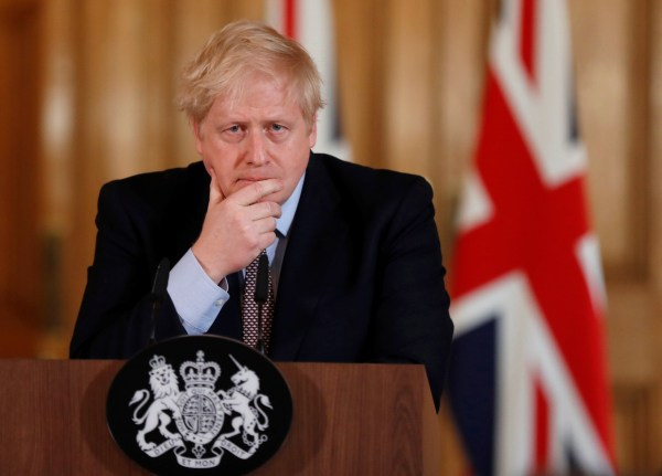 Britain's Prime Minister Boris Johnson speaks during a news conference on the novel coronavirus, in London, Britain March 3, 2020. Frank Augstein/Pool via REUTERS