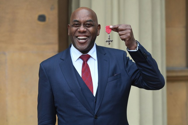 Ainsley Harriott with his MBE following an investiture ceremony at Buckingham Palace, London. PA Photo. Picture date: Thursday March 5, 2020. See PA story ROYAL Investiture. Photo credit should read: Kirsty O'Connor/PA Wire