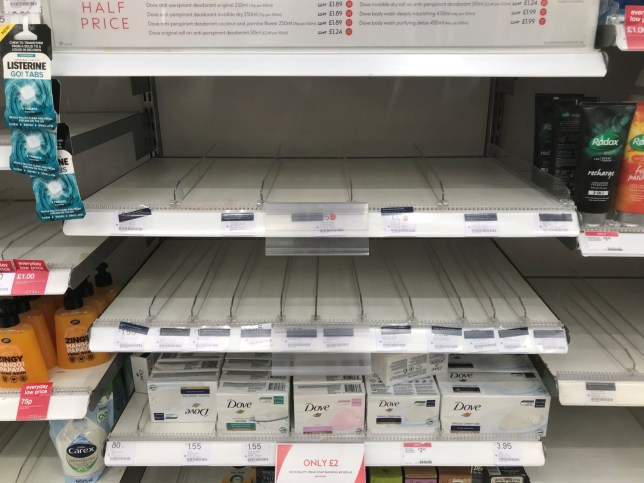 An empty shelf as hand sanitiser is sold out in a Boots store in Clapham, London. PA Photo. Picture date: Friday March 6, 2020. Health Secretary Matt Hancock sought to reassure the public following panic-buying in some areas, with supermarkets seeing their shelves cleared of essentials such as toilet roll and paracetamol. See PA story HEALTH Coronavirus. Photo credit should read: Kirsty O'Connor/PA Wire
