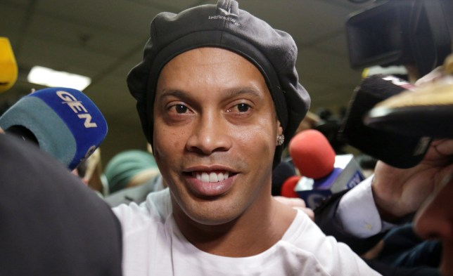 Ronaldinho was imprisoned earlier this month for using a fake Paraguayan passport