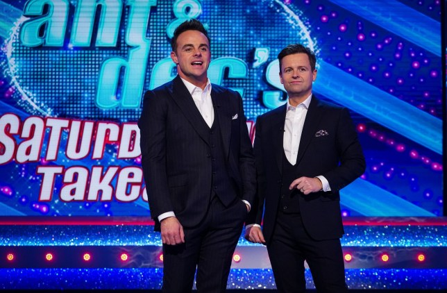 Anthony McPartlin and Declan Donnelly in Ant & Dec's Saturday Night Takeaway.