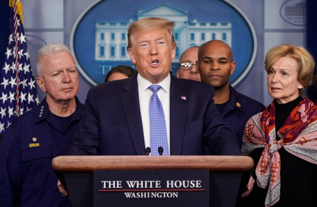 U.S. President Donald Trump speaks during a news briefing on the administration's response to the coronavirus at the White House in Washington, U.S., March 15, 2020. REUTERS/Joshua Roberts