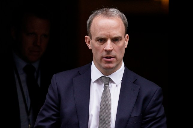epa08300793 Britain's Foreign Secretary Dominic Raab leaves after a cabinet meeting at 10 Downing Street, in London, Britain, 17 March 2020. The British government's response to the outbreak of coronavirus is expected to be discussed amongst cabinet members. EPA/WILL OLIVER