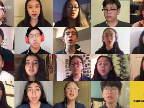 School choir harmonises remotely when their big show is cancelled due to coronavirus