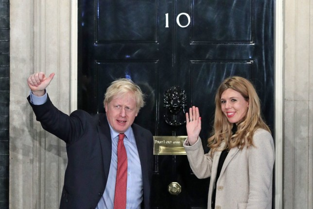 File photo dated 13/12/19 showing Prime Minister Boris Johnson and his girlfriend Carrie Symonds arrive in Downing Street after the Conservative Party was returned to power in the General Election with an increased majority. PA Photo. Issue date: Saturday March 21, 2020. Pictures of the Prime Minister during his first 100 days in power. See PA story POLITICS 100Days. Photo credit should read: Yui Mok/PA Wire