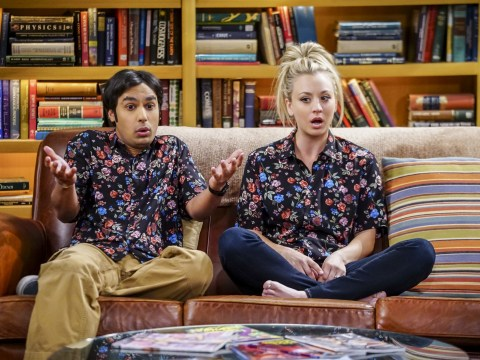 The Big Bang Theory's Kunal Nayyar jokes Kaley Cuoco's husband has been watching a lot of Tiger King as Johnny Galecki comments on goatee