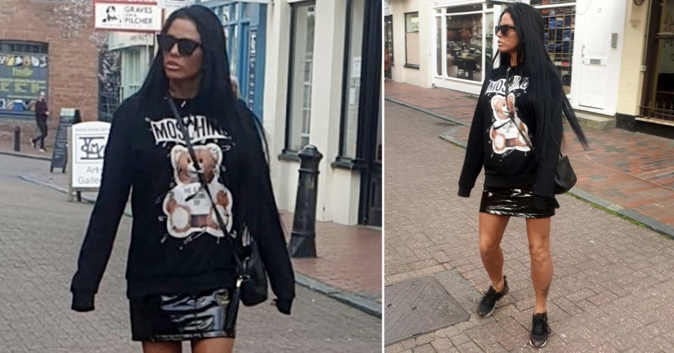 Katie Price looks tanned and healthy while shopping in Brighton