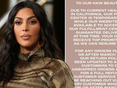Kim Kardashian stops sending out beauty products amid coronavirus pandemic, but is still taking orders