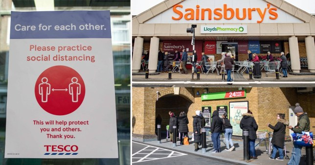 There will be limits on the number of people allowed in supermarkets
