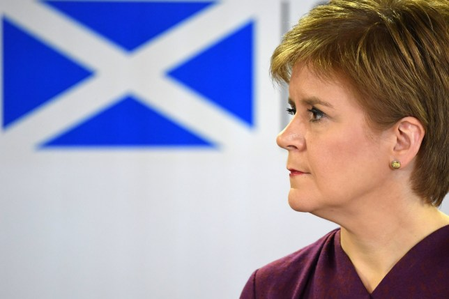 Scotland's First Minister Nicola Sturgeon holds a briefing on the novel coronavirus COVID-19 outbreak in Edinburgh. PA Photo. Picture date: Thursday March 26, 2020. See PA story HEALTH Coronavirus. Photo credit should read: Andy Buchanan/PA Wire