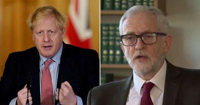 Boris Johnson and Jeremy Corbyn Pics: Reuters/BBC
