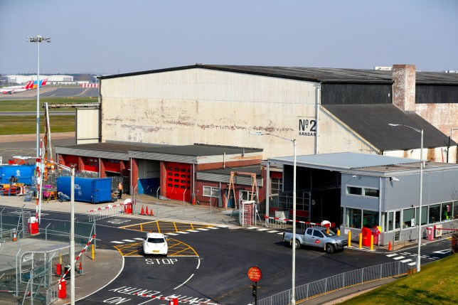 A general view of Hangar 2 at Birmingham Airport as talks have been held about setting up a temporary mortuary at the airport with space for up to 12,000 bodies in a worst-case scenario amid the Covid-19 outbreak. PA Photo. Picture date: Friday March 27, 2020. The UK's coronavirus death toll reached 578 on Thursday. See PA story HEALTH Coronavirus. Photo credit should read: David Davies/PA Wire