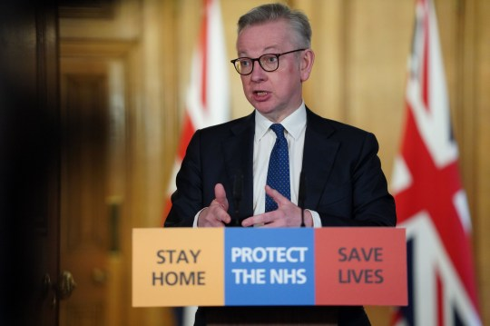 Chancellor of the Duchy of Lancaster Michael Gove holds a Digital Press Conference on Covid-19 in 10 Downing Street, London. PA Photo. Issue date: Friday March 27, 2020. See PA story HEALTH Coronavirus. Photo credit should read: 10 Downing Street/Crown Copyright/Pippa Fowles /PA Wire NOTE TO EDITORS: This handout photo may only be used in for editorial reporting purposes for the contemporaneous illustration of events, things or the people in the image or facts mentioned in the caption. Reuse of the picture may require further permission from the copyright holder.