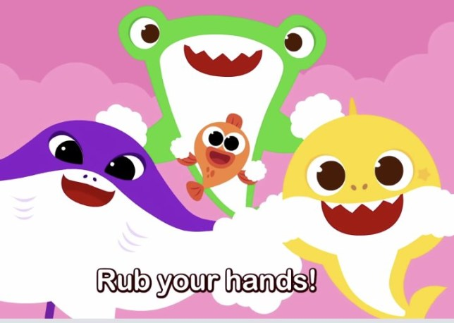 Baby Shark hand-washing song