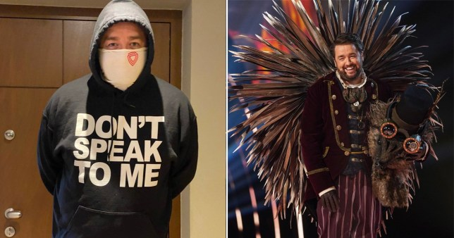 Jason Manford is wearing his masked singer hoody during self-isolation