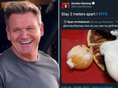 Gordon Ramsay is back to rating food after laying off restaurant staff and hitting back at criticism