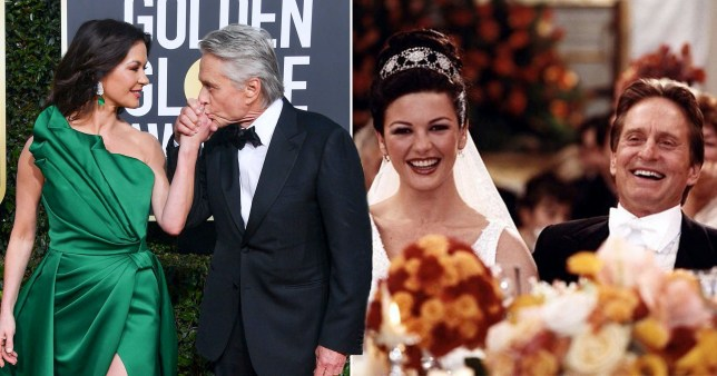Catherine Zeta Jones has just seen her wedding photos for the first time 20 years after marrying Michael Douglas