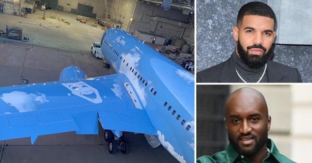 Virgil Abloh redesigning Drake's private jet