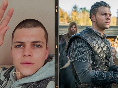 Vikings star Alex Høgh Andersen debuts 'corona cut' as he shaves head in quarantine