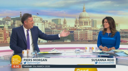 Piers Morgan welcome Susanna Reid back to GMB after she self isolated for 2 weeks