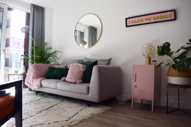sally norman's manchester flat which she shares with her boyfriend