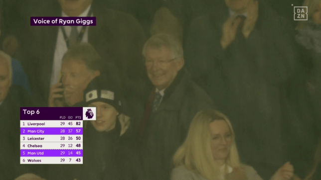 Sir Alex Ferguson was delighted with the win (Picture: DAZN)