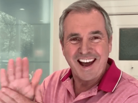 Neighbours star Alan Fletcher sings the soap's iconic theme as he urges everyone to wash their hands amid Coronavirus
