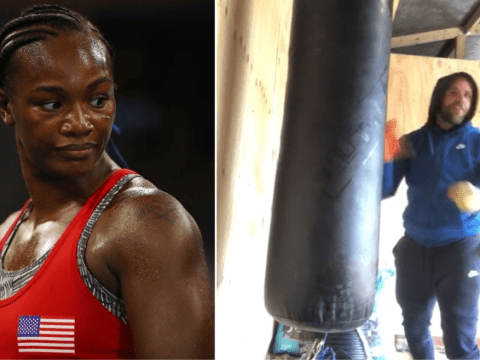 Boxer Claressa Shields responds to Billy Joe Saunders by showing how to take down attacker with nut shot