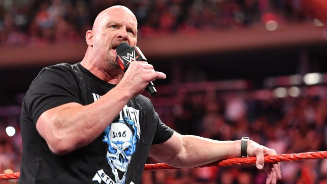WWE legend Stone Cold Steve Austin on Monday Night Raw