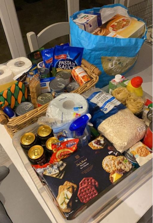 The food from Norman's shopping list plus a whole lot more means the 99-year-old shouldn't need to attempt another Tesco visit for a while