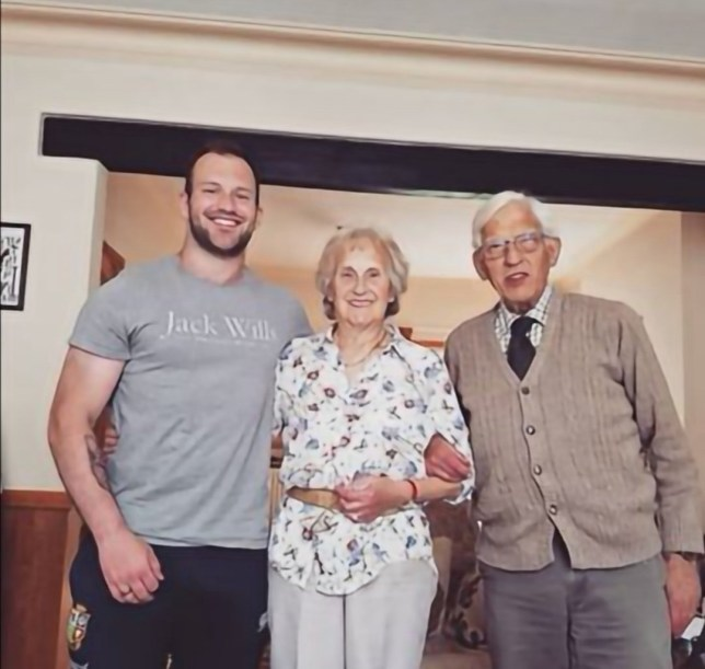 Zac with his grandparents