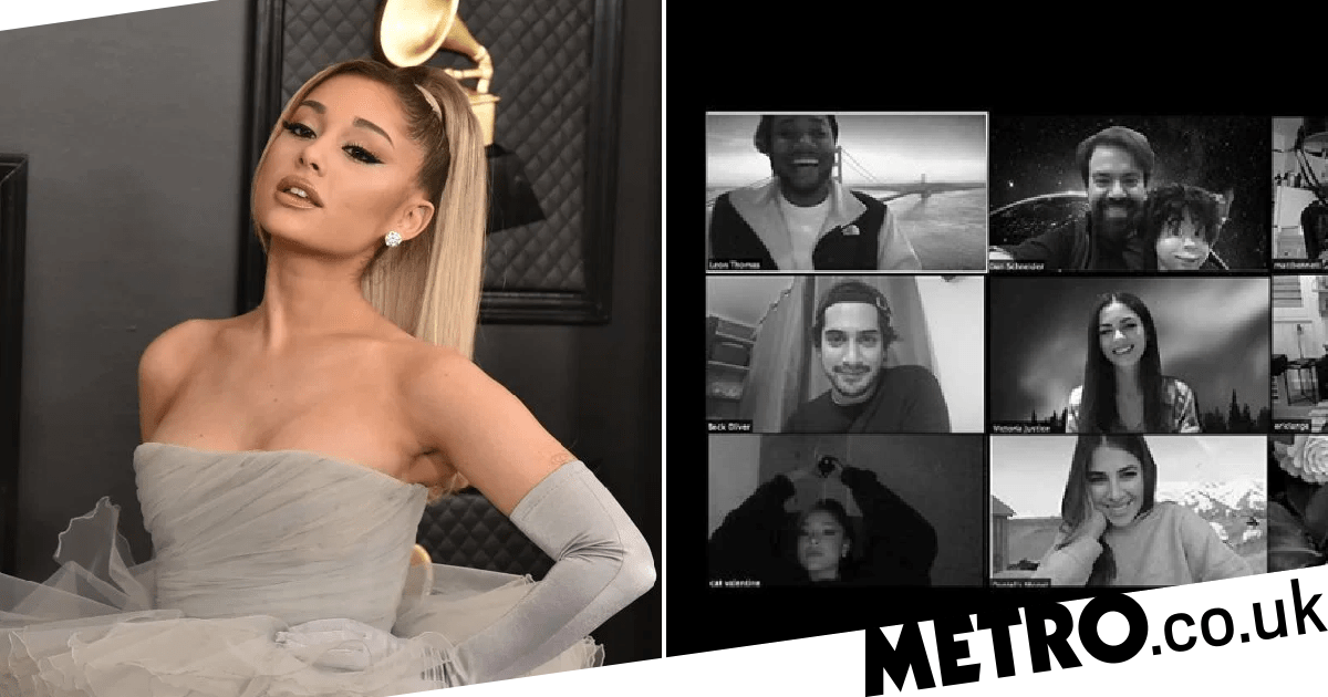 Ariana Grande reunited with her Victorious cast mates for an anniversary Zoom